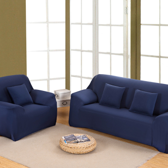 Home Furniture Chair Loveseat Sofa Couch Stretch Protect CoverSlipcover Navy Blue 2 Seater