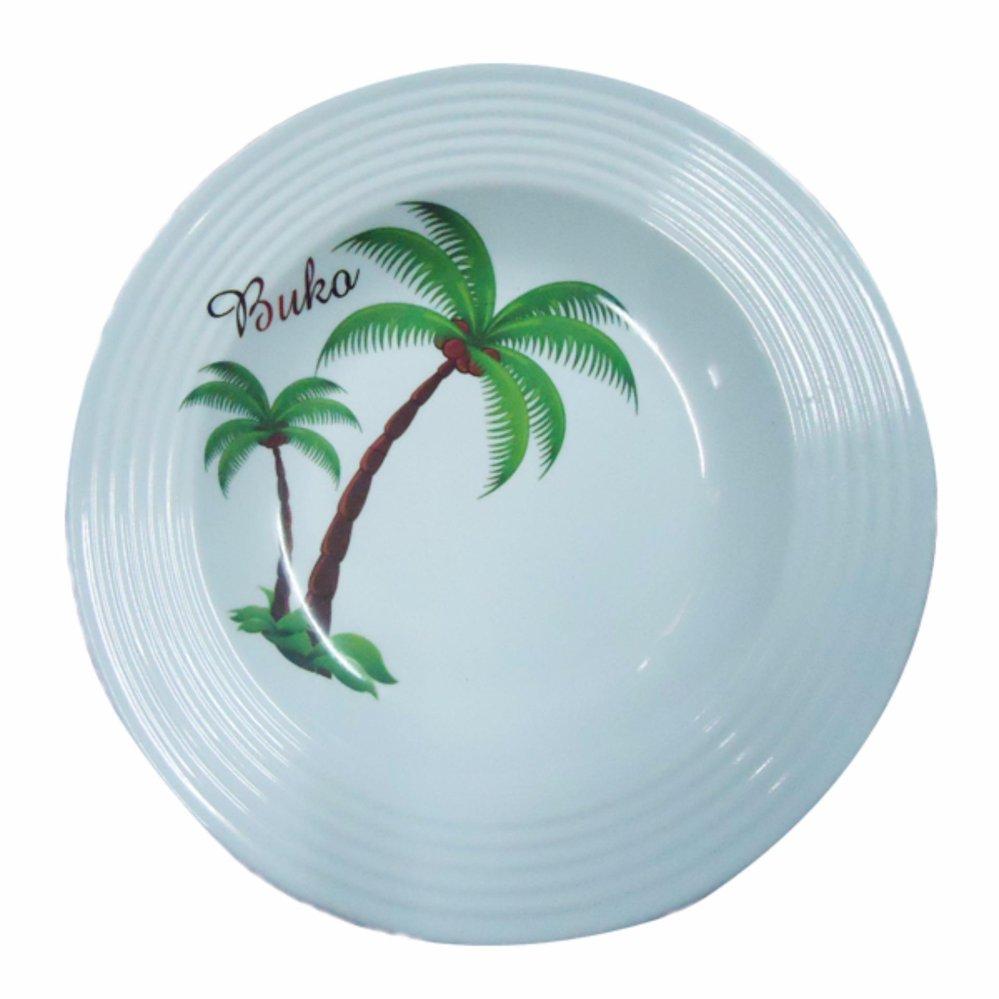 Homex Dinner Plate NO.254 Set 6pcs