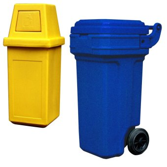 Hooded Bin King (Yellow) and Roller King Small (Blue)