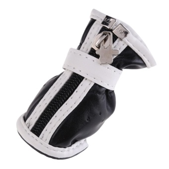 Hot PU Comfortable Boots Waterproof Shoes For Small Big Pet DogBlack No.5 - intl - 5