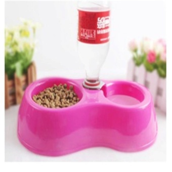 Hot Sale Dual Port Dog Automatic Water Dispenser Feeder UtensilsBowl Cat Drinking Fountain Food Dish Pet Bowl - intl