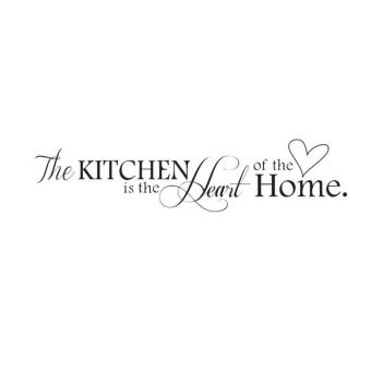 HOT!Removable Kitchen Heart Home Decal Wall Stickers Vinyl BathroomArt Decor - intl - 4