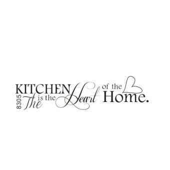 HOT!Removable Kitchen Heart Home Decal Wall Stickers Vinyl BathroomArt Decor - intl - 3