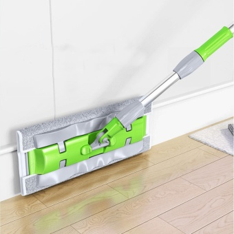 Household Cleaning Tools Floor Flat Mop (7 Mops Cloth)-Green - intl - 3