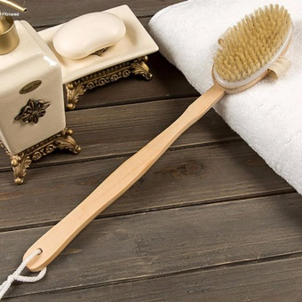 HYX HOT SALE!!!Back Scrubber Long Wooden Handle Bristle Shower Bath Body Brush Dry Skin Brush - intl - 3