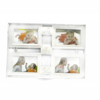I Love You Collage Picture Frame (White)