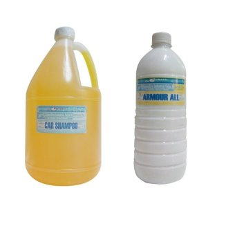 iChem CRS, Car Shampoo Yellow (1 Gallon) with iChem Armour-AllWhite (1 Liter) Bundle