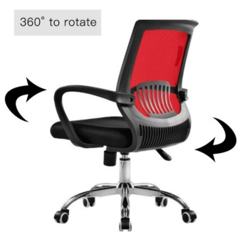 ihome 4033 Mesh Office Chair (Red) - 2