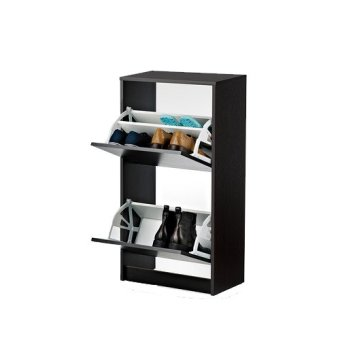 Ikea 2-Compartment Shoe Cabinet (Black/Brown) Price Philippines