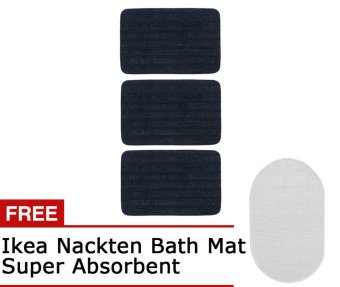 Ikea Borris Nacken Intense Cleaning Door Mat, Set of 3