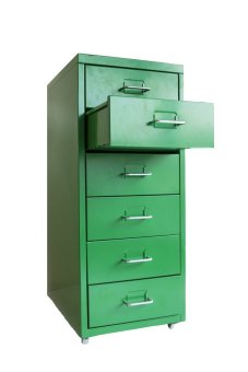 Ikea Helmer Drawer with Wheels (Green)