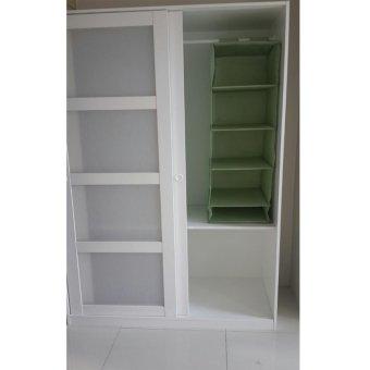 Ikea Kvikne Wardrobe with 2 Sliding Doors (White) - 2
