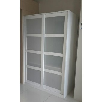 Ikea Kvikne Wardrobe with 2 Sliding Doors (White) - 3