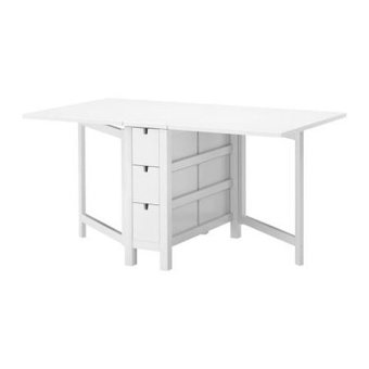 Ikea Norden Extendable Gateleg Table (White)