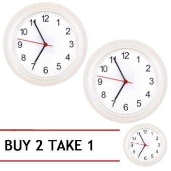 Ikea Rusch 2pcs Wall Clocks (White) Buy 2 Take 1