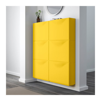 Ikea Stackable Shoe Cabinet Set of 3 (Yellow) - 4