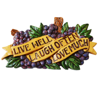 Harga Live Well Laugh Often Love Much Ceramic Wall Decor (Violet)