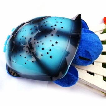 Harga Hanyu Turtle Night Lamp Sky Projection Lamp Turtle Night Light Stars Lamp and Music Children's Toys Star Projection Lamp-Blue - intl
