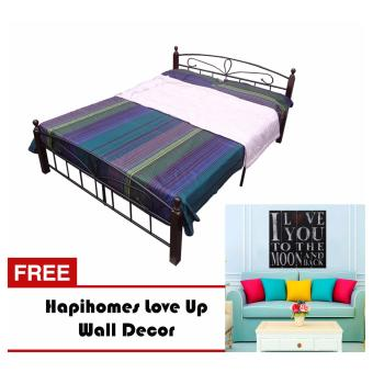Harga Hapihomes Hilton 54' x 75' Bed Frame w/ LoveU wall Decor