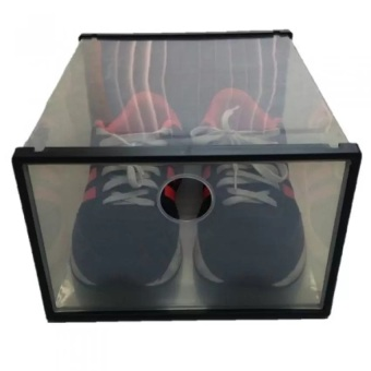 Harga Sunnyware Shoe Mate Clear Collapsible Shoe Box - Large