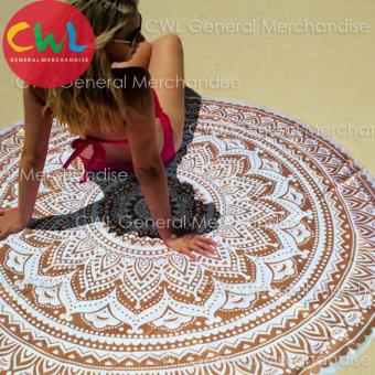 Round Beach Towel Mandala (Brown) Price Philippines