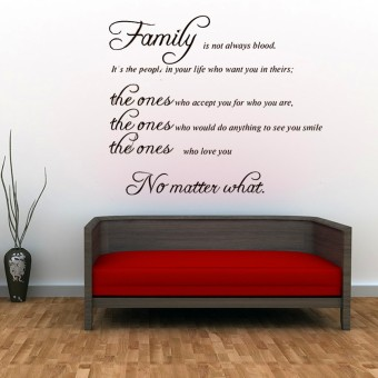 Harga Autoleader Removable FAMILY Quote Wall Sticker Decal Mural DIY Living Room Art Home Decor