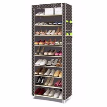 Harga SHXT-609 Shoe Cabinet Shoe Rack (Checkered)