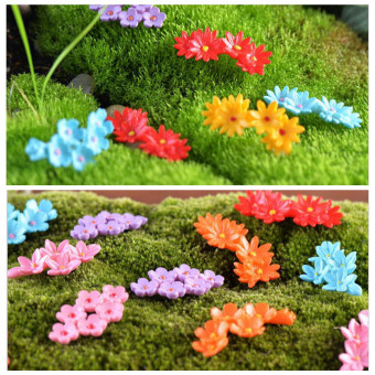 10Pcs Miniature Moss Flower Fairy Garden Micro Landscape Resin Decor Craft - intl Price Philippines