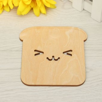 Animal Wood Coaster Drink Holder Tea Coffee Cup Mat Pads Table Decor Tableware Happy puppy - intl Price Philippines