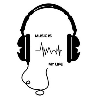 Harga Music Is My Life Quote Wall DIY Art Wall Sticker - intl
