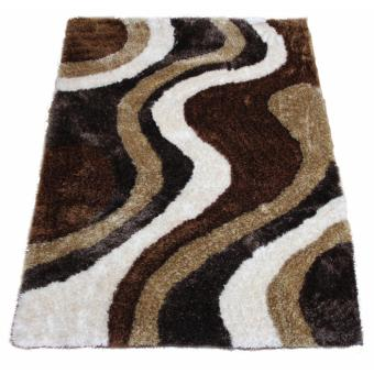 Carpetier Concepts - 3D Galant Design. Brown White Beige Black. Shaggy bedroom table carpet home decor rug Price Philippines