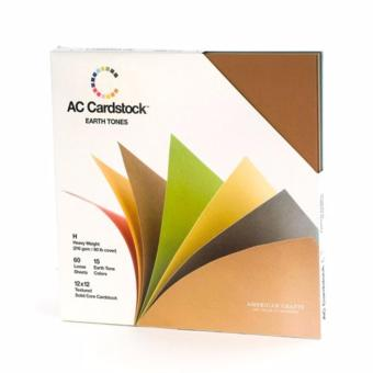 "American Craft Cardstock 12""x12"" - Earth Tones Price Philippines"