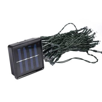 12M Solar 100 LED String Fairy Light Party Outdoor Garden Christmas White