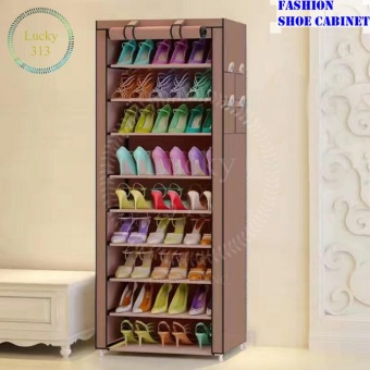 Harga Shoe Cabinet Shoe Rack Organizer (Brown)