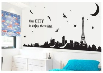 Harga Cozy Home PVC Removable Wall Decor Sticker (City View)