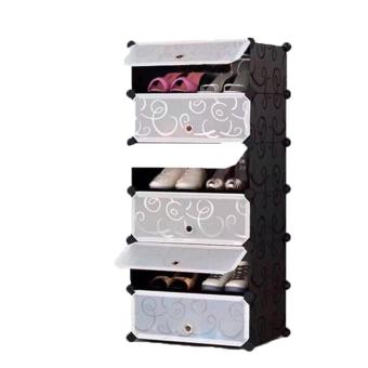 Harga ACB Online Shop 5 Layer Shoe Rack Locker (Black)