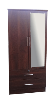 Harga Hapihomes PluTo-08 2-door Wardrobe with Mirror (wenge)