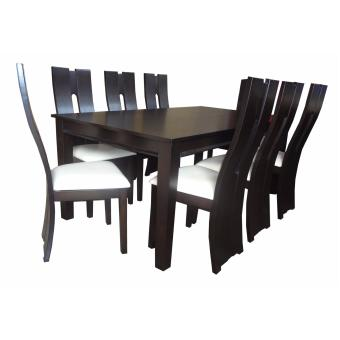 Harga Hapihomes Baby Tan 8-Seater Dining Set