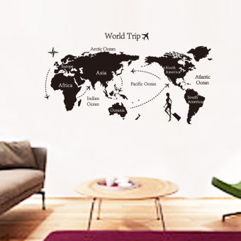 Harga Wall Decals world map PVC Wall Stickers
