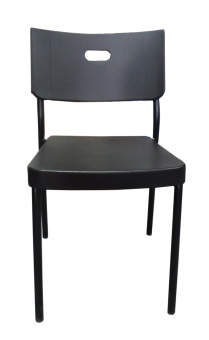 Harga Hapihomes 8008 Deluxe Plastic Stacking Chair (BLACK)