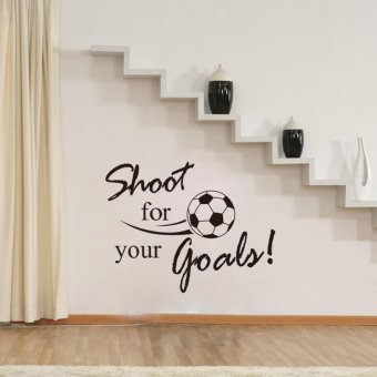 Harga Shoot For Your Goals Inspirational Quote Wall Decal 44cm*57cm