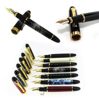Harga Luxury Jinhao X450 Calligraphy Faountain Pen Golden Clip Art Pen - intl