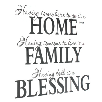 Harga Home Family Blessing English Quote Wall Sticker Decal Removable Mural Decor US