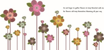 Harga Wall Decals Line Flowers PVC Wall Stickers