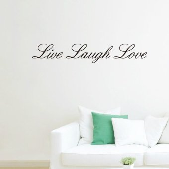 Harga Live Laugh Love Quotesl Words Home Decor Wall Sticker 10cm*57cm