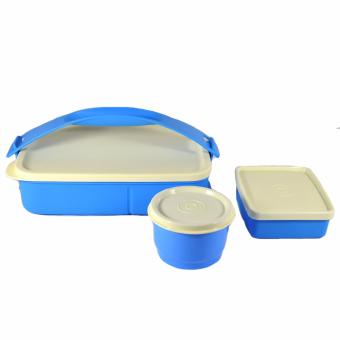 Tupperware Click to Go Lunch Set 3 pcs. Cool Aqua Price Philippines