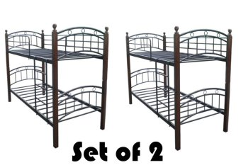 Harga Hapihomes 208 Double Deck Bed Frame SET Of 2 (Two)