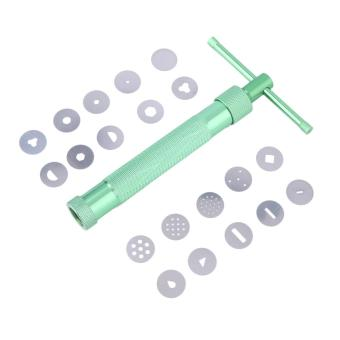 Harga UINN New Clay Extruder Tool with 20 Tips Sugar Paste Extruder Cake Decor Tools green