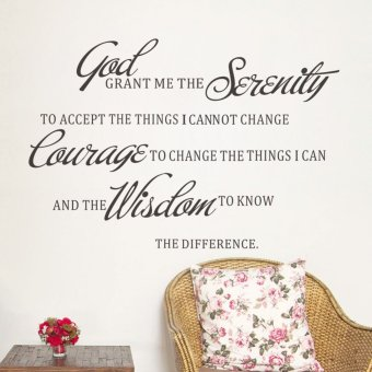 Harga God Grant Me The Serenity Prayer Bible Art Quote Vinyl Wall Stickers 39cm*57cm