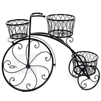 Harga Gifts & Decor Nostalgic Bicycle Home Garden Decor Iron Plant Stand 3 Plant Stands